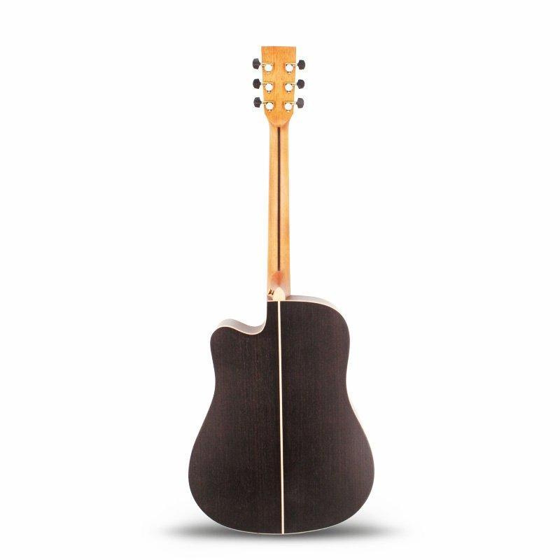 Qteguitar 41 inch solid top engrave guitar MD-66NT