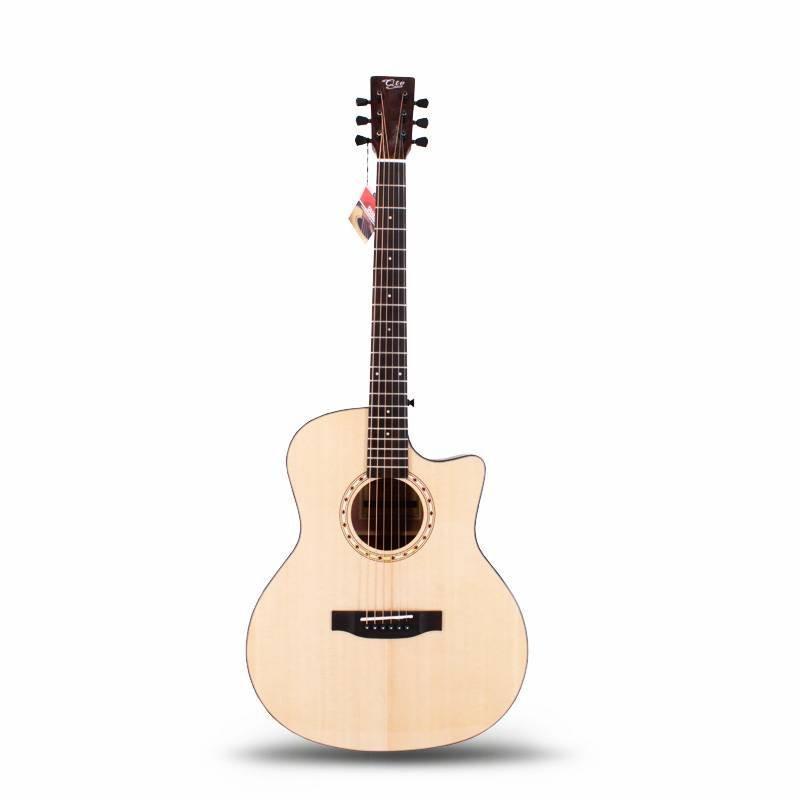 Qteguitar 41 inch  acoustic guitar solid top QAG05S