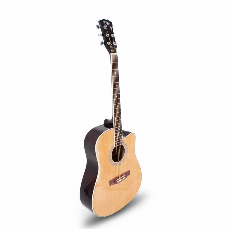 Qteguitar  41 inch linden acoustic guitar QAG23A