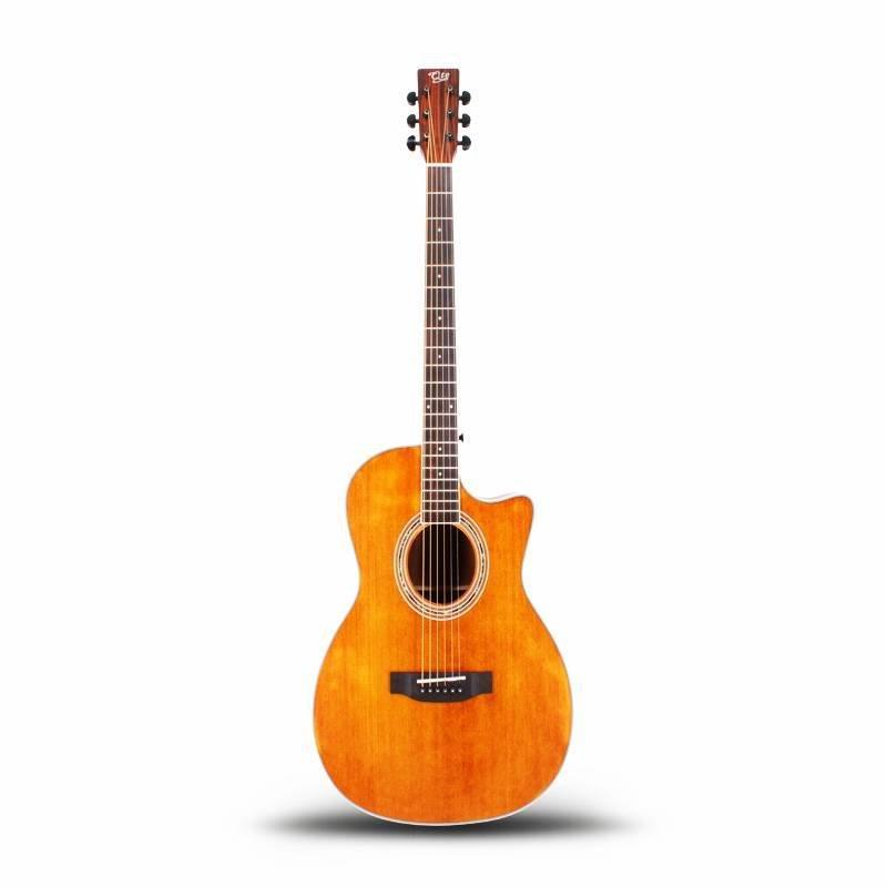 Qteguitar 41 inch body acoustic guitar QAG45YB