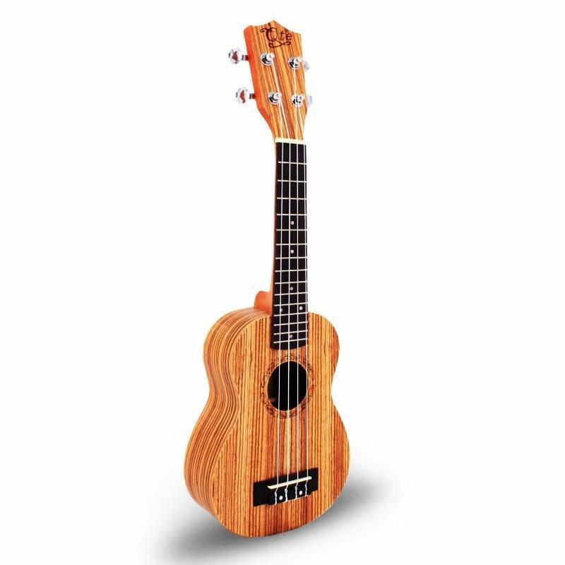 Qte Economic 21 inch  zebrawood saprano ukulele 21B