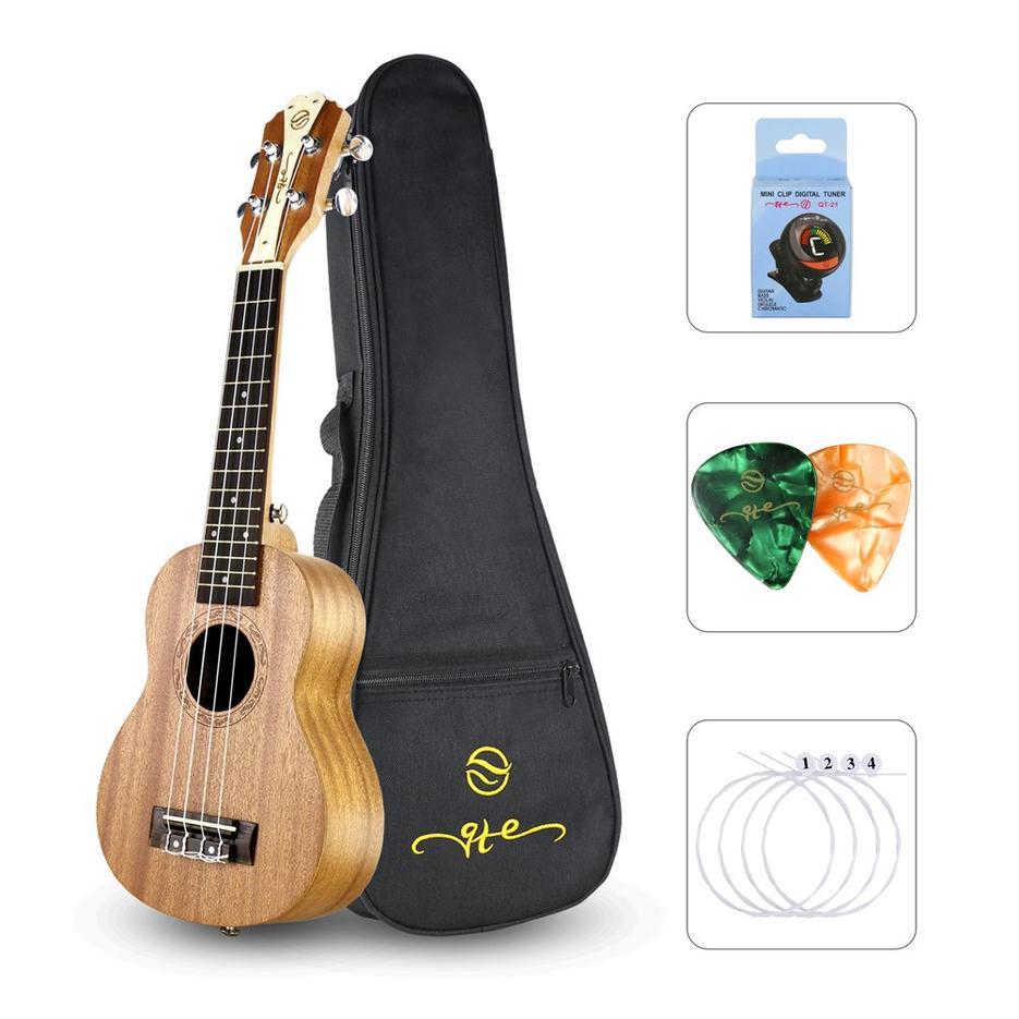 Soprano ukulele 21inch Professional Ukulele Starter Small Guitar Hawaiian Guitar Bundle