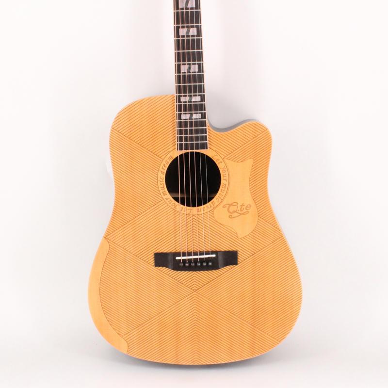 Qte guitar 41 inch solid top engrave guitar MD-66BK best guitars